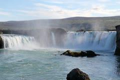 Godafoss瀑布。 库存图片