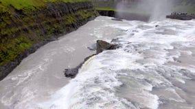 Godafoss瀑布在冰岛,欧洲 股票录像