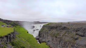 Godafoss瀑布在冰岛,欧洲 股票视频