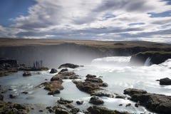 godafoss καταρράκτης της Ισλανδ στοκ φωτογραφίες