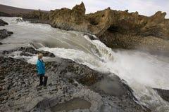 godafoss Исландия около водопада rapids Стоковые Фото