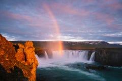 Godafoss - один из водопадов Исландии стоковое фото