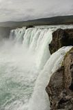 Godafoss. Side view of Godafoss waterfall, Iceland Royalty Free Stock Photo