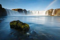 Godafoss瀑布在冰岛 图库摄影