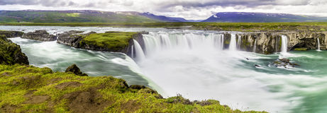 Godafoss, a beautiful waterfall royalty free stock photo