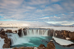 Godafoss fall in the morning, Iceland Royalty Free Stock Image