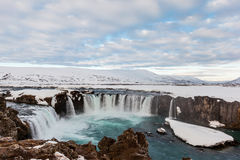 Godafoss fall in the morning, Iceland. Stock Image