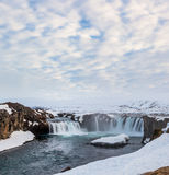 Godafoss falls in cloudy day, Iceland Royalty Free Stock Photo
