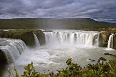 Godafoss, the falls of gods. Iceland. Godafoss, one of the most beautiful and famous Icelandic falls Royalty Free Stock Photo