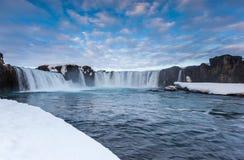 Godafoss falls in winter, Iceland Stock Photo