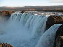 Godafoss härlig icelandic vattenfall Royaltyfri Bild