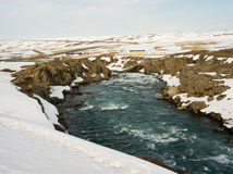 Godafoss  in iceland. Godafoss waterfall in norther iceland Stock Image