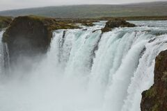 The Godafoss Icelandic: waterfall of the gods is a famous waterfall in Iceland. The breathtaking landscape of Godafoss waterfall