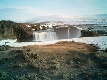 Godafoss in Islanda Fotografie Stock Libere da Diritti