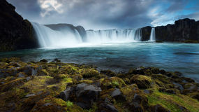Godafoss, Islanda del Nord fotografia stock
