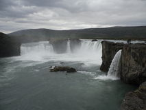 Godafoss- North iceland. Waterfall Godafoss North east Iceland Stock Image