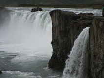 Godafoss- North iceland. Waterfall Godafoss North east Iceland Royalty Free Stock Photos