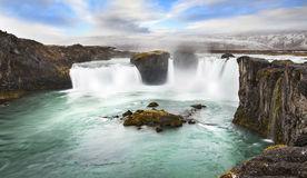 Godafoss is one of the most spectacular waterfalls in Iceland Royalty Free Stock Photos