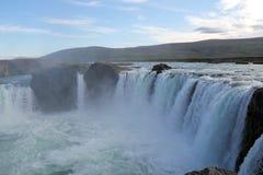 Godafoss vattenfall. Royaltyfri Bild