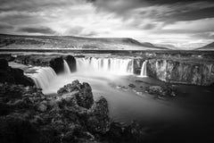 Godafoss vattenfall Arkivfoton