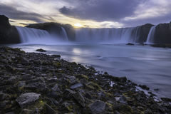 Godafoss vattenfall Island Arkivfoto