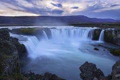 Godafoss vattenfall Island Royaltyfri Fotografi