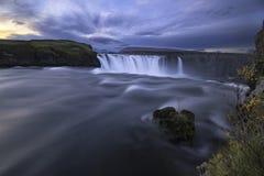 Godafoss vattenfall Island Arkivfoton