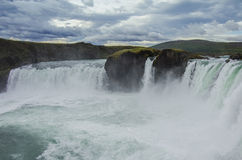 Godafoss is a very beautiful Icelandic waterfall. It is located Royalty Free Stock Photography