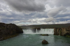 Godafoss is a very beautiful Icelandic waterfall. It is located Stock Images