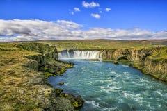 Godafoss Wasserfall Lizenzfreies Stockfoto