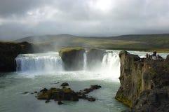 Godafoss waterfall. Godafoss - Waterfall of God, Iceland Royalty Free Stock Photography