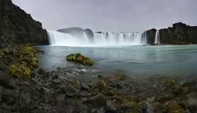The Godafoss or waterfall Royalty Free Stock Photos