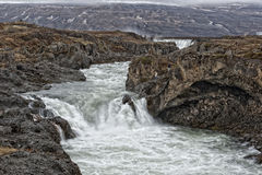 Godafoss waterfall in iceland Royalty Free Stock Photography