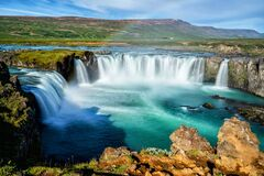 The Godafoss waterfall in north Iceland.