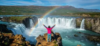 The Godafoss waterfall in north Iceland