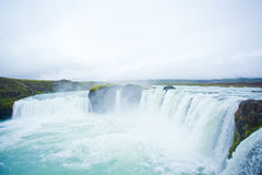 Godafoss waterfall in the northern Iceland. Beatiful Godafoss waterfall in the northern Iceland Stock Photo