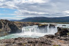 Godafoss waterfall - Northern Iceland royalty free stock image