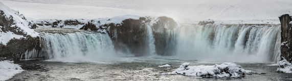 Godafoss Waterfall Panorama Stock Photography