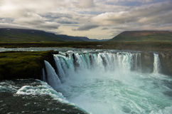 Godafoss waterfall or waterfall of the gods, north Iceland Royalty Free Stock Photography