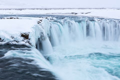 Godafoss waterfall in winter. Stock Image