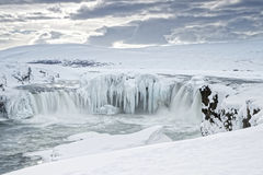 Godafoss waterfall in winter Stock Image