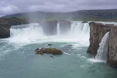 Godafoss & x28; водопад gods& x29; , Исландия Стоковое Изображение
