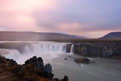 godafossiceland vattenfall Royaltyfri Fotografi