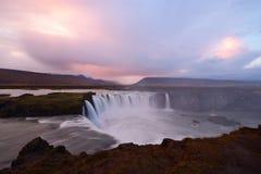 godafossiceland vattenfall Royaltyfri Bild