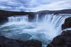 godafossiceland vattenfall fotografering för bildbyråer
