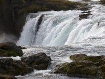 godafossiceland vattenfall Royaltyfri Foto