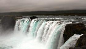 godafossiceland vattenfall arkivbilder