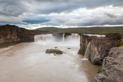 Godafosswaterval, Noord-IJsland Stock Afbeeldingen