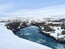 Godafosswaterval, ringsweg, Noord-IJsland Royalty-vrije Stock Afbeeldingen