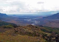 Godaland e parque nacional do thorsmork em Islândia - colorida vie fotos de stock